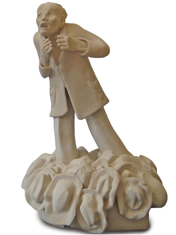 Mädchen mit Puppe Bronzeguss